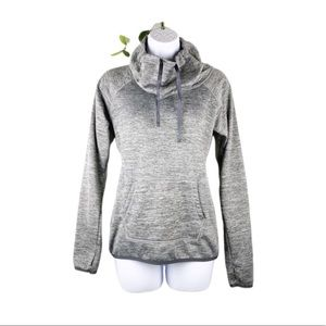 Reebok Heathered Gray Fleece Lined Funnel Pullover